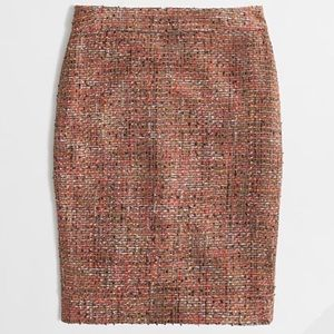 J. Crew Factory Pencil Skirt in Frayed Tweed | EUC
